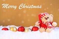 Natale Teddy Bear Fotografia Stock Libera da Diritti