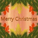 Natale-testo allegro illustrazione di stock