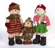 Natale Toy Family Decoration fotografia stock