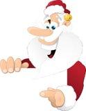 Natale tradizionale Santa che indica obliquamente Immagine Stock