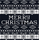 Natale tricottato del fondo del maglione del modello Immagini Stock Libere da Diritti