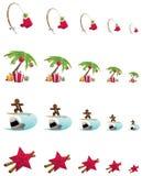 Natale tropicale illustrazione di stock