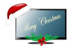 Natale TV isolato Fotografia Stock Libera da Diritti