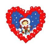 Natale, un cuore dei desideri Fotografia Stock Libera da Diritti
