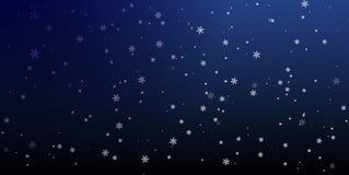Natale un fondo con i fiocchi di neve di caduta Vettore Immagine Stock