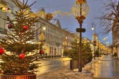 Natale a Varsavia, Polonia Immagini Stock