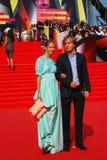 Natalia Bardo e Alexander Kushaev no festival de cinema de Moscou Fotos de Stock Royalty Free