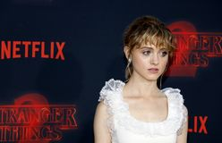Natalia Dyer. At the Netflix`s season 2 premiere of `Stranger Things` held at the Regency Village Theatre in Westwood, USA on October 26, 2017 Stock Image