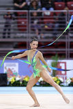 Natalia Garcia Spain. Sofia, Bulgaria - 6 May, 2017: Natalia Garcia from Spain performs during Rhythmic Gymnastics World Cup Sofia 2017. Individual tournament Stock Images