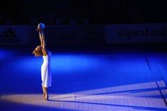 Natalia Godunko bij Kop Deriugina stock foto