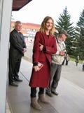 Natalia modèle Vodyanova dans Biysk Photos stock