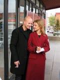 Natalia modelo Vodjanova e senhor Justin Portman Imagens de Stock Royalty Free