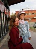 Natalia modelo Vodjanova en Biysk Imágenes de archivo libres de regalías