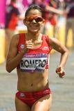 Natalia Romero - kvinna olympiska maraton Arkivbilder