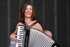 Natalia Tena. Of British band Molotov Jukebox performs during the music festival Rock for People in Hradec Kralove, Czech Republic on July 5, 2014 Royalty Free Stock Photography