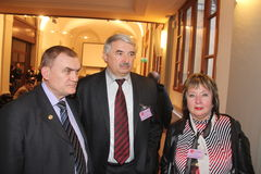 Natalia Vitrenko, Vladimir Marchenko y Valeri Sergachov Imágenes de archivo libres de regalías