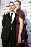 Natalia Vodianova en directeur Chris Columbus a Stock Foto