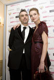 Natalia Vodianova en directeur Chris Columbus Royalty-vrije Stock Foto's