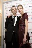 Natalia Vodianova und Direktor Chris Columbus Lizenzfreie Stockfotos