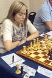 Natalia Zukhova. Chess player in the international open Gibraltar. It is one of the most important in the world open. It is an editorial image September 2015 Stock Image
