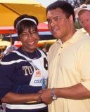 Natalie Cole och Muhammad Ali royaltyfria bilder