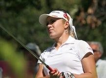 Natalie Gulbis bei Evian erarbeitet Golf 2007 lizenzfreie stockbilder