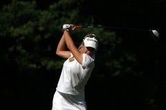 Natalie Gulbis bei Evian erarbeitet Golf 2007 stockbild
