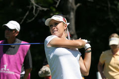 Natalie Gulbis en Evian domina el golf 2007 Fotografía de archivo
