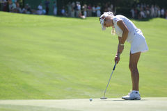 Natalie Gulbis at Evian Masters golf 2007 Stock Image
