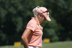 Natalie Gulbis at Evian Masters golf 2007 Stock Images