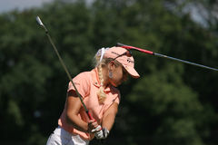 Natalie Gulbis at Evian Masters golf 2007 Stock Photos
