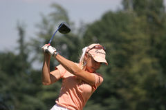 Natalie Gulbis at Evian Masters golf 2007 Royalty Free Stock Photos