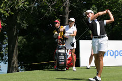 Natalie Gulbis and Lorena Ochoa, Evian 2007 Stock Photography