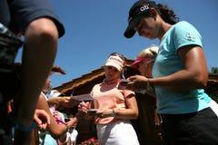 Natalie Gulbis y Lorena Ochoa, Evian 2007 Fotografía de archivo