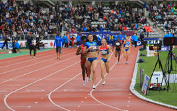 Nataliia Lupu from Ukraine win 800 meters race Royalty Free Stock Photos