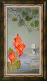 NataljaCernecka Poco Etude en Douarnenez Pintura al óleo en lona Fotos de archivo libres de regalías