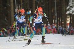 Natalya Burdiga - biathlon Stock Photos