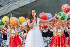Natalya Kulikova sing Royalty Free Stock Photos
