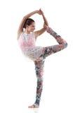 Nataradjasana di posa di yoga Immagine Stock
