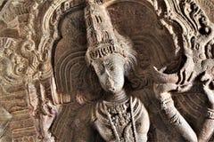 Nataraj Shiva Stone Carving en el templo de Veerabhadra, Lepakshi fotografía de archivo libre de regalías