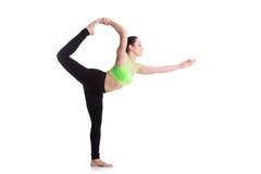 natarajasanaen poserar yoga royaltyfria foton