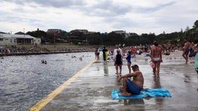 Natation à la plage de Clovelly, Sydney, Australie banque de vidéos