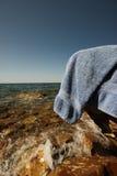 Natation dans l'océan Photographie stock libre de droits