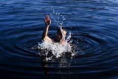 Natation dans le lac Skadar Photographie stock libre de droits