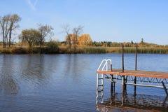 natation de dock Photos stock