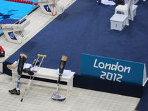 Natation 2012 de Paralympics de Jeux Olympiques de Londres Photos stock