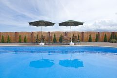 natation privée de regroupement Photo libre de droits