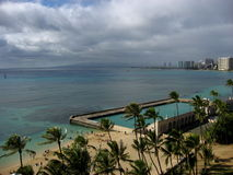 Natatorium War Memorial Oahu. Waikiki Beach Hawaii Royalty Free Stock Photo