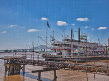 Natchez Riverboat on the Mississippi at New Orleans Royalty Free Stock Photography