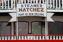 Natchez steamboat detail Royalty Free Stock Images